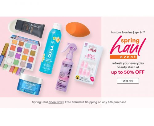 Ulta Spring Haul Event : Up to 50% Off!