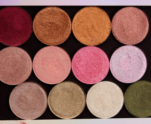 Give Me Glow Swatches: Foiled Pressed Shadows