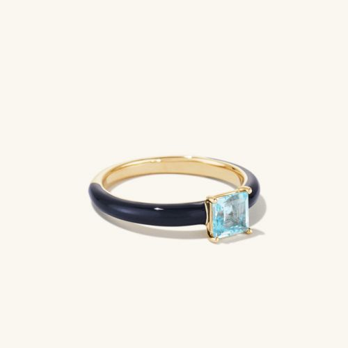 Mejuri's New Enamel Rings Nail 2021's Hottest Jewelry Trend