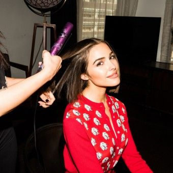 Watch Olivia Culpo Get Schooled in Flat Iron Waves