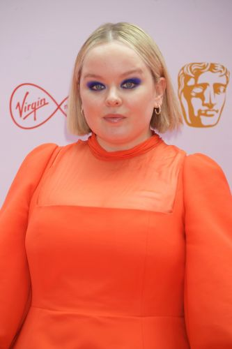 Nicola Coughlan Goes Bold With Cobalt-Blue Eyeshadow at the BAFTA TV Awards