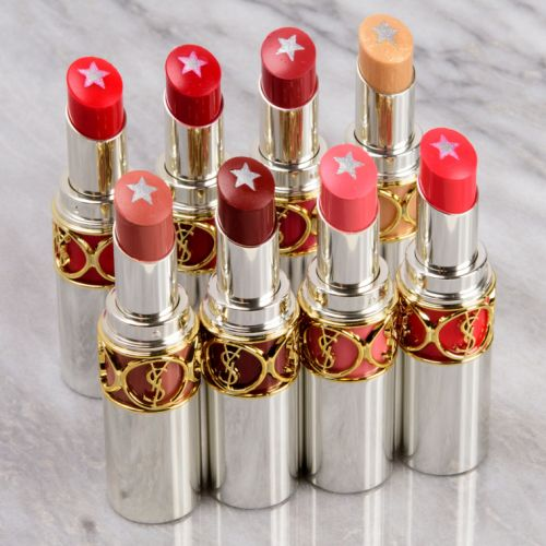 YSL Rouge Volupte Rock'N Shine Lipstick Swatches